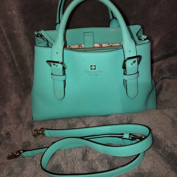kate spade Handbags - Kate spade mint/teal arm purse